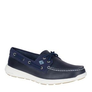 Sperry Sojourn Navy Blue Boat Shoes Size 12
